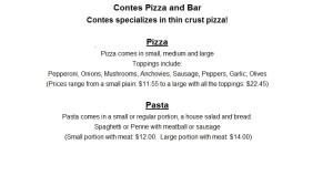 menu part 1