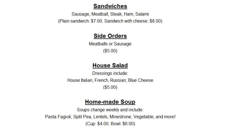 menu part 2