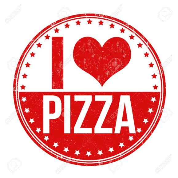 I love pizza stamp